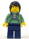 Minifig No: col006  Name: Skater, Series 1 (Minifigure Only without Stand and Accessories)