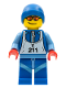 Minifig No: col028  Name: Skier - Minifigure only Entry