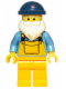 Minifig No: col037  Name: Fisherman (Dark Blue Cap) - Minifigure only Entry