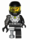 Minifig No: col038a  Name: Space Villain - Flat Silver Pirate Peg Leg