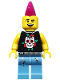 Minifig No: col052  Name: Punk Rocker - Minifigure only Entry