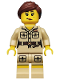 Minifig No: col071  Name: Zookeeper - Minifigure only Entry