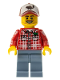 Minifig No: col072  Name: Lumberjack - Minifigure only Entry
