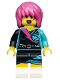 Minifig No: col111  Name: Rocker Girl - Minifigure only Entry