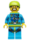 Minifig No: col150  Name: Skydiver - Minifigure only Entry