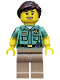 Minifig No: col235  Name: Animal Control - Minifigure only Entry