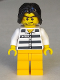 Minifig No: col276  Name: Police - Jail Prisoner 50380 Prison Stripes, Tousled Hair