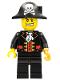 Minifig No: col281  Name: Pirate Captain, Black Vest