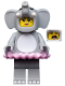 Minifig No: col312  Name: Elephant Girl - Minifigure only Entry
