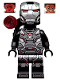 Minifig No: col334  Name: War Machine - Black and Silver Armor with Backpack