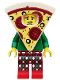 Minifig No: col351  Name: Pizza Costume Guy - Minifigure only Entry
