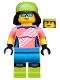 Minifig No: col357  Name: Mountain Biker - Minifigure only Entry