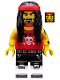 Minifig No: coltlnm17  Name: Gong & Guitar Rocker - Minifigure Only Entry, no stand, no accessories