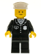 Minifig No: cop001  Name: Police - Suit with 4 Buttons, Black Legs, White Hat