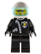 Minifig No: cop005  Name: Police - Zipper with Sheriff Star, White Helmet, Trans-Light Blue Visor, Sunglasses