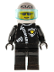 Minifig No: cop010  Name: Police - Zipper with Sheriff Star, White Helmet with Police Pattern, Trans-Light Blue Visor