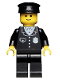 Minifig No: cop015  Name: Police - Suit with 4 Buttons, Black Legs, Black Hat