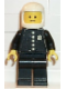 Minifig No: cop023s  Name: Police - Torso Sticker with 4 Buttons and Badge, Black Legs, White Classic Helmet