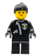 Minifig No: cop024  Name: Police - Zipper with Sheriff Star, Black Ponytail Hair