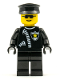 Minifig No: cop025  Name: Police - Zipper with Sheriff Star, Black Hat