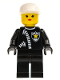 Minifig No: cop026  Name: Police - Zipper with Sheriff Star, White Cap, Female