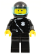 Minifig No: cop027  Name: Police - Zipper with Badge, Black Legs, Black Helmet, Trans-Light Blue Visor