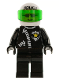 Minifig No: cop038  Name: Police - Zipper with Sheriff Star, White Helmet with Police Pattern, Trans-Green Visor