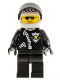Minifig No: cop043  Name: Police - Zipper with Sheriff Star, White Helmet with Police Pattern, Black Visor, Sunglasses