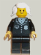 Minifig No: cop046  Name: Police - Suit with 4 Buttons, Black Legs, White Pigtails Hair