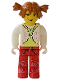 Minifig No: cre005  Name: Tina, White Torso and Red Legs