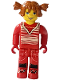Minifig No: cre010  Name: Tina, Red Torso and Red Legs