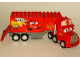 Minifig No: crs025  Name: Duplo Mack - Long Cab and Trailer