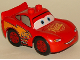 Minifig No: crs049  Name: Duplo Lightning McQueen - Rust-eze Hood, Smooth Tires
