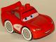 Minifig No: crs050  Name: Duplo Lightning McQueen - Plain Hood