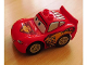 Minifig No: crs051  Name: Duplo Lightning McQueen - Piston Cup Hood, Yellow Wheels