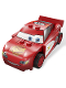 Minifig No: crs065  Name: Lightning McQueen - Rust-eze Hood, Light Bluish Gray 1 x 4 Plates Inside
