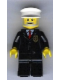 Minifig No: cty0012  Name: Police - City Suit with Red Tie and Badge, Black Legs, White Hat