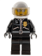 Minifig No: cty0027  Name: Police - City Leather Jacket with Gold Badge, White Helmet, Trans-Black Visor, Silver Sunglasses