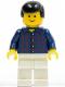Minifig No: cty0037  Name: Plaid Button Shirt, White Legs, Black Male Hair, Standard Grin
