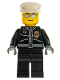 Minifig No: cty0039  Name: Police - City Leather Jacket with Gold Badge, White Hat, Silver Sunglasses