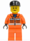Minifig No: cty0051  Name: Sanitary Engineer 3 - Orange Legs