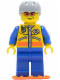 Minifig No: cty0073a  Name: Coast Guard City - Helicopter Rescue Swimmer