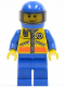 Minifig No: cty0075  Name: Coast Guard City - ATV Driver