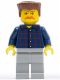 Minifig No: cty0082  Name: Plaid Button Shirt, Light Bluish Gray Legs, Bushy Moustache