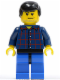 Minifig No: cty0083  Name: Plaid Button Shirt, Blue Legs, Black Male Hair, Smirk and Stubble Beard