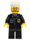 Minifig No: cty0097  Name: Police - City Suit with Blue Tie and Badge, Black Legs, White Hat, Beard and Glasses
