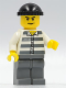 Minifig No: cty0100  Name: Police - Jail Prisoner 50380 Prison Stripes, Dark Bluish Gray Legs, Black Knit Cap, Angry Eyebrows and Scowl