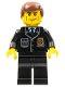 Minifig No: cty0101  Name: Police - City Suit with Blue Tie and Badge, Black Legs, Vertical Cheek Lines, Reddish Brown Hair