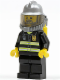 Minifig No: cty0138  Name: Fire - Reflective Stripes, Black Legs, Silver Fire Helmet, Gray Beard, Yellow Airtanks