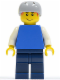 Minifig No: cty0155  Name: Plain Blue Torso with White Arms, Dark Blue Legs, Helmet